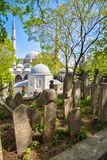 Ancient cemetery in Istanbul royalty free stock photos