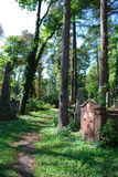 Ancient cemetery in Lviv. Picturesque image of Lychakivske cemetery in Lviv, Ukraine Royalty Free Stock Photos