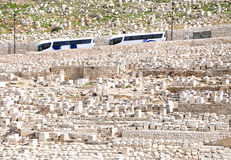 Ancient Cemetery at Mount of Olives. Jerusalem Stock Images