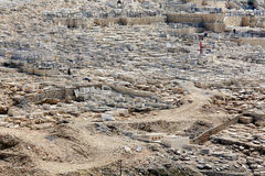 Ancient Cemetery at Olives Mountain, Jerusalem Royalty Free Stock Photo