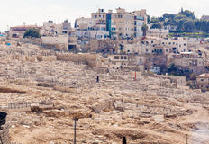Ancient Cemetery at Olives Mountain, Jerusalem Royalty Free Stock Photography