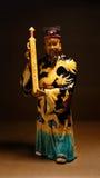 Ancient ceramic statue - Bao QingTian god of Royalty Free Stock Photo
