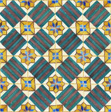 Ancient ceramic tiles. Texture of ancient ceramic tiles Royalty Free Stock Images