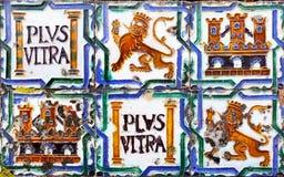 Ancient ceramic tiles Stock Image
