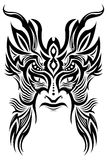 Ancient ceremony mask - tribal - tattoo - vector. Ancient ceremony mask - tribal - tattoo, isolated on white, vector format available Royalty Free Stock Photo
