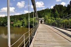 Ancient chain bridge Stock Image