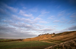 Ancient chalk white horse in landscape at Cherhill Wiltshire Eng Stock Photography