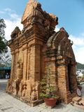 Ancient Cham temple, Vietnam. Po Nagar is a Cham temple tower founded sometime before 781 C.E. and located in the medieval principality of Kauthara, near modern stock photos