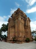 Ancient Cham temple, Vietnam. Po Nagar is a Cham temple tower founded sometime before 781 C.E. and located in the medieval principality of Kauthara, near modern stock images
