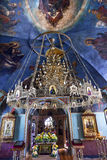Ancient Chandelier Rectory Saint Michael VydubytskAncient Basilica Vydubytsky Monastery Kiev Ukraine Royalty Free Stock Images