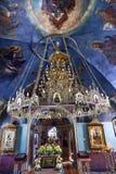 Ancient Chandelier Rectory Saint Michael VydubytskAncient Basilica Vydubytsky Monastery Kiev Ukraine. Ancient Mosaics Icons Chandelier Rectory Saint Michael Royalty Free Stock Images