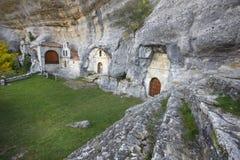Ancient chapel in a cave. Ojos de Guarena. Burgos. Spain Royalty Free Stock Photography