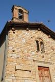 The ancient chapel in the Italian Tuskany Stock Photo