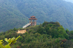 Ancient chapel in Vietnam. Ancient chapel in mountains of North Vietnam stock image