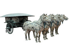 Ancient chariot. Chinese ancient  bronze chariot ,from qing dynasty Royalty Free Stock Photo