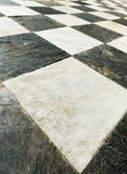 Ancient checkered floor close up Royalty Free Stock Image