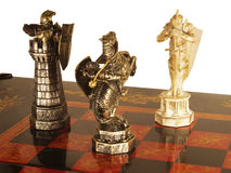 Ancient chess. Composition of the three figures royalty free stock image