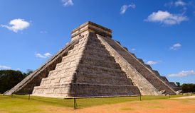 Ancient Chichen Itza pyramid Stock Images