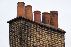 Ancient chimneys pot royalty free stock images