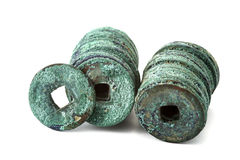 Ancient china coins Stock Photo