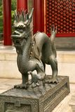Symbol of imperial power Dragon statue in the Summer Imperial Palace. Beijing, China. royalty free stock image