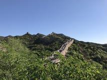 Ancient China Great Wall - Ba Da. Ancient China Great Wall in Beijing Royalty Free Stock Images