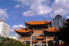 Ancient Chinese Arch. In southwest area of morden china royalty free stock photo