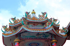 Ancient Chinese architecture with blue sky Royalty Free Stock Image