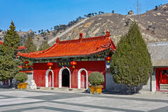Ancient Chinese Architecture on the Great Wall of China Stock Photos