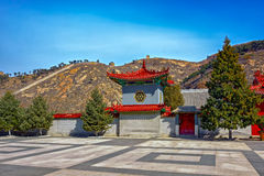 Ancient Chinese Architecture on the Great Wall of China Stock Images