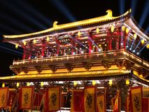 The ancient Chinese architecture royalty free stock image