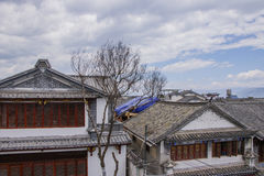 Ancient Chinese architecture house building in Dali Old Town, Yu Royalty Free Stock Photo