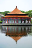 Ancient Chinese Architecture and lake Stock Image
