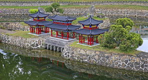 Ancient chinese architecture miniature landscape Stock Image