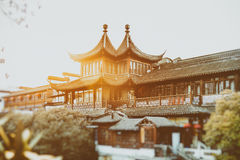 Ancient Chinese architecture palace, Beijing, China. Nanjing Fuzimiao or Fuzimiao is located in southern Nanjing City on banks of the Qinhuai River. Within the Stock Images