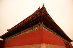Ancient Chinese architecture roof Royalty Free Stock Images