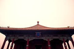 Ancient Chinese architecture roof Stock Photos