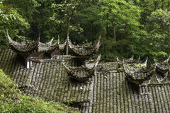 Ancient Chinese architecture roof Royalty Free Stock Photos