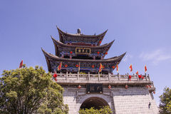 Ancient Chinese architecture turret building in Dali Old Town, Y Stock Photos