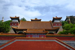 Ancient Chinese Architectures Under Blue Sky Royalty Free Stock Photos