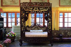 Ancient Chinese bed Royalty Free Stock Photos