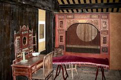 Ancient Bedroom of China royalty free stock photos