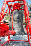 Ancient Chinese bell Stock Photo