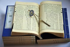 The ancient Chinese books Royalty Free Stock Image