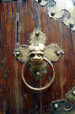 Ancient Chinese brass knocker Stock Photos
