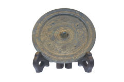 Ancient chinese bronze mirrors Stock Images