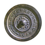 Ancient chinese bronze mirrors. With fine  patterns Royalty Free Stock Image