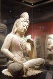 Ancient chinese buddha sitting statue Stock Photo