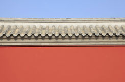 The ancient Chinese building walls Stock Photos