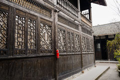 Ancient Chinese buildings with latticed windows Royalty Free Stock Photos
